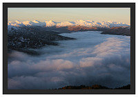 46E0466 First light on the Arrochar Alps seen from Ben A'an over a temperature inversion on Loch Katrine