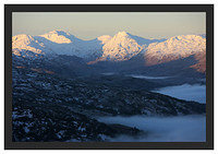 46E0473 Daybreak on the Arrochar Alps seen from Ben A'an