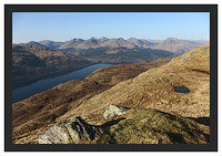 46E0773 The Arrochar Alps from Ben Lomond's Ptarmigan Ridge