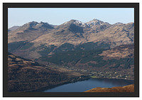 46E0775 The Arrochar Alps from Ben Lomond's Ptarmigan Ridge