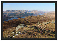 46E0784 Loch Lomond and the Arrochar Alps from Ben Lomond's Ptarmigan Ridge