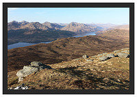 46E0829 Loch Lomond and the Arrochar Alps from Ben Lomond's Ptarmigan Ridge