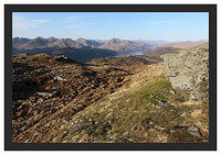46E0834 Loch Lomond and the Arrochar Alps from Ben Lomond's Ptarmigan Ridge