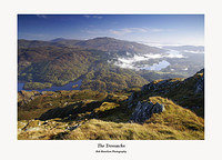 The Trossachs Lochs Achray and Venachar fom Ben Venue
