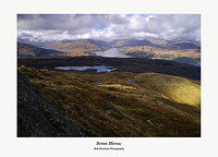 The view north west over Lochs Arklet and Katrine from the summit of Beinn Bhreac
