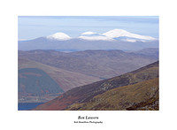 L1000607 A snow capped Lawers range from Beinn Each