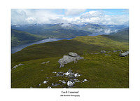 Loch Lomond and the Arrochar Alps from the Ptarmigan Ridge of Ben Lomond