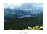 Loch Lomond and Ben Vorlich from Ben Lomond's Ptarmigan Ridge
