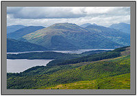 L1003789 Loch Lomond Beinn Bhreac and the Arrochar Alps from Conic Hill