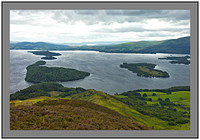 L1003803 Loch Lomond the Islands and a distant Firth of Clyde from Conic Hill