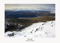 West to Ben Lomond and the Arrochar Alps from Ben Ledi