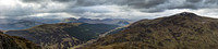 The panorama north from Beinn Each-past Stuc a Chroin along Glen Ample to Meall an t-Seallaidh Loch Earn and the Ben Lawers range