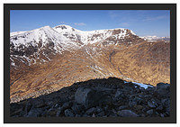 46E2311 Stob Ghabhar from above Coire Toaig with the Glencoe peaks in the background