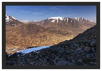 46E2313 Coire an Easain over Coire Dhearbhadh with the Glencoe peaks in the background