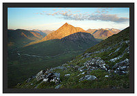 46E3642 First light on Buachaille Etive Mor (Stob Dearg) from Beinn a'Chrulaiste