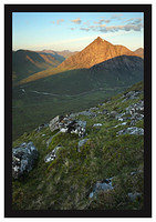 46E3652 First light on Buachaille Etive Mor (Stob Dearg) from Beinn a'Chrulaiste