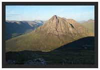 46E3704 Early morning light on Glen Etive Buachaille Etive Mor and Lairig Gartain from Beinn a'Chrulaiste