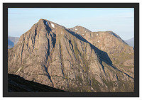 46E3728 Early morning light on Buachaille Etive Mor from Beinn a' Chrulaiste
