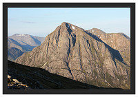 46E3731 Early morning light on Buachaille Etive Mor from Beinn a' Chrulaiste