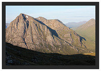 46E3732 Early morning light on Buachaille Etive Mor from Beinn a' Chrulaiste