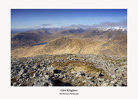 Glen Kinglass Ben Cruachan and the Glen Etive Peaks from Stob Ghabhar