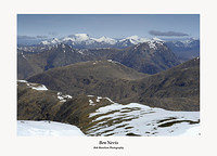 The Glencoe Peaks and Ben Nevis from Stob Ghabhar