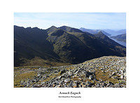 MG 2457 The Aonach Eagach ridge the Pap of Glencoe Loch Leven and a distant Ardgour from Garbh Bheinn