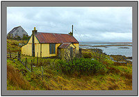 L1002551 Abandoned corrugated iron cottage Berneray