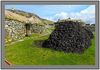 L1002628 Black Houses and Peat for the Fire Na Gearrannan Isle of Lewis