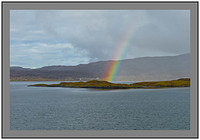 L1002677 Rainbow over South Harris Isle of Harris