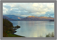 L1002854 Evening light on Loch na Dal Isle of Skye and the Knoydart mountains beyond