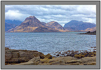 L1002917 Sgurr na Stri Marsco and Camasunary Bay across Loch Scavaig Isle of Skye