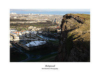 46E0262 Holyrood from Salisbury Crags