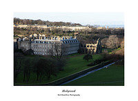 46E0282 Holyrood Palace from Salisbury Crags