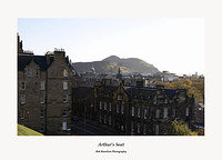 Edinburgh-Arthur's Seat from the Castle Esplanade
