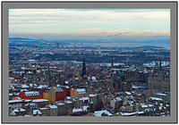 L1000781 Edinburgh with the snow covered Ochil Hills in the background